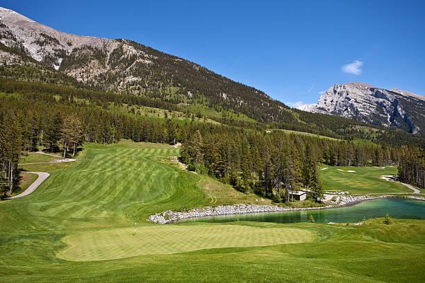 Mountain Golf stock photo