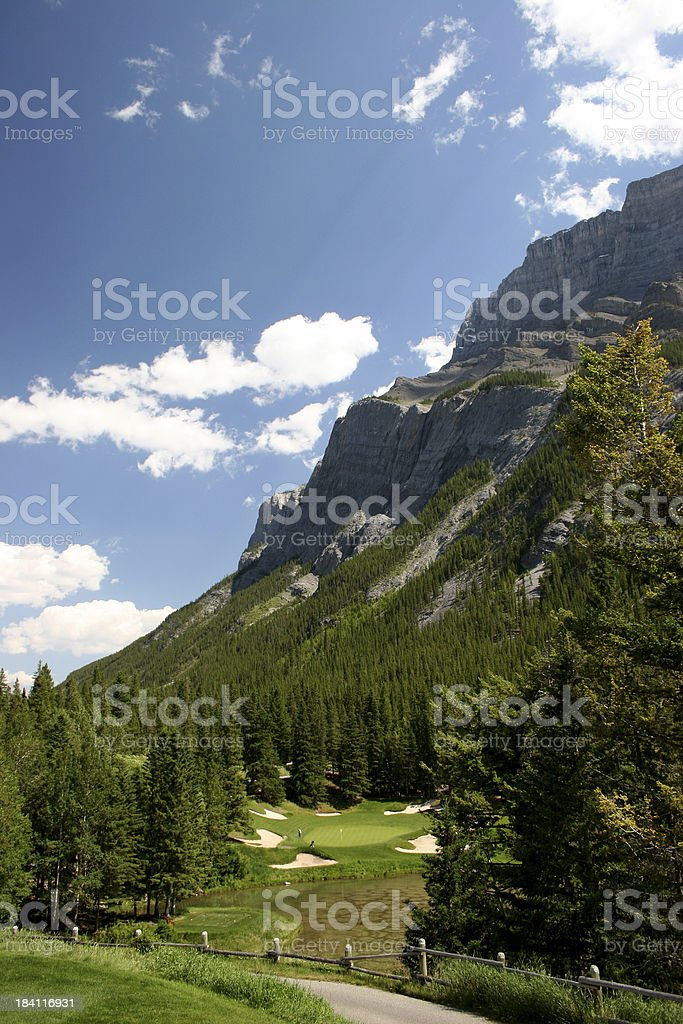 Mountain Golf Vertical royalty-free stock photo