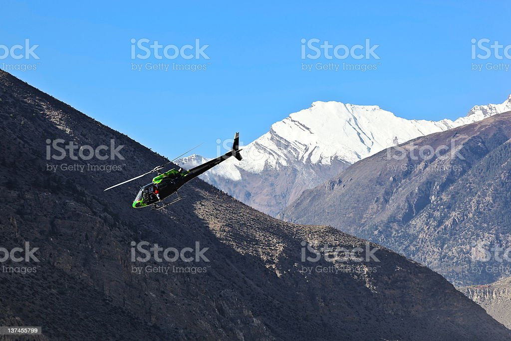 Mountain helicopter royalty-free stock photo