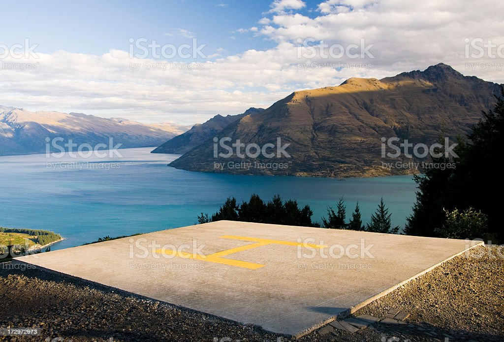 Mountain Helipad stock photo