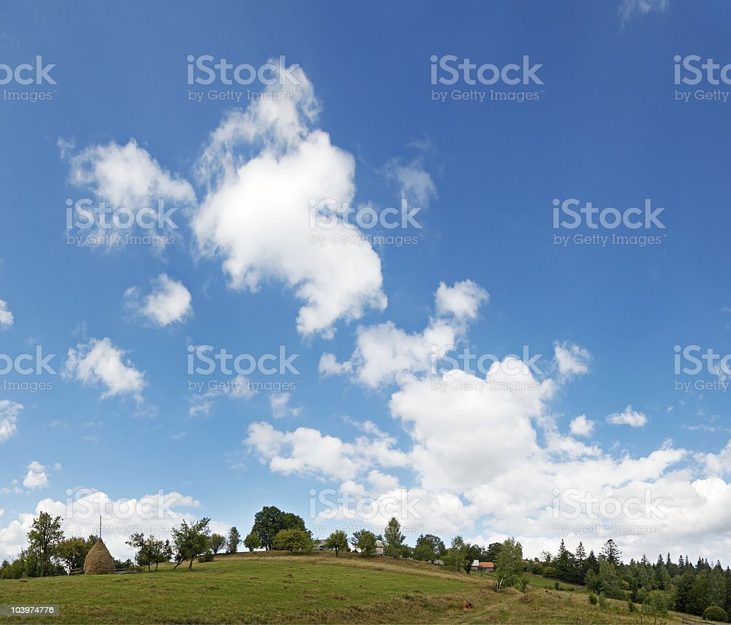 Mountain high sky royalty-free stock photo