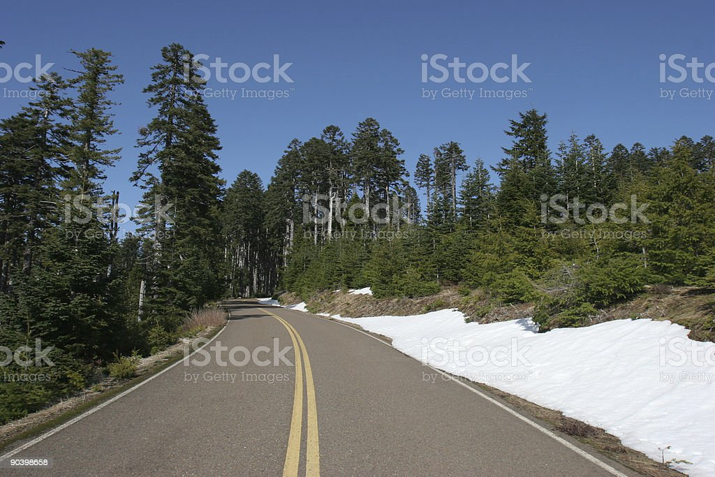 Mountain Highway stock photo