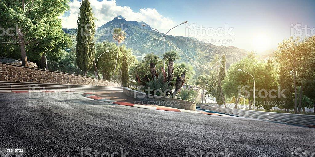 Mountain Highway Track stock photo