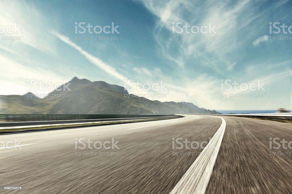 Mountain Highway Track bildbanksfoto