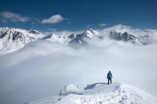 Mountain Hiking stock photo