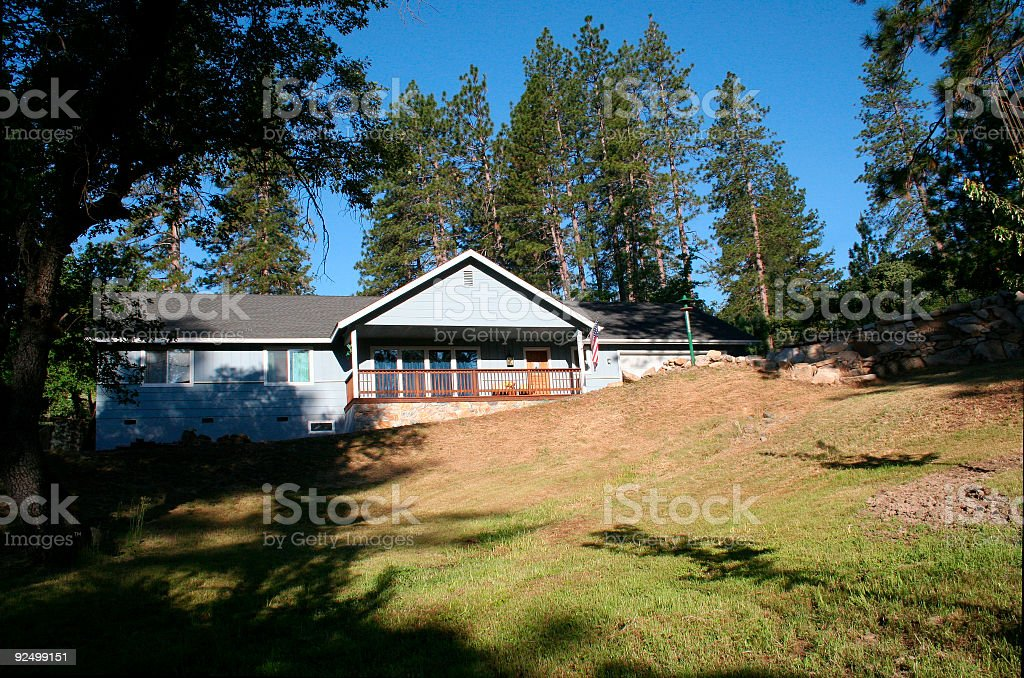 Mountain Home royalty-free stock photo
