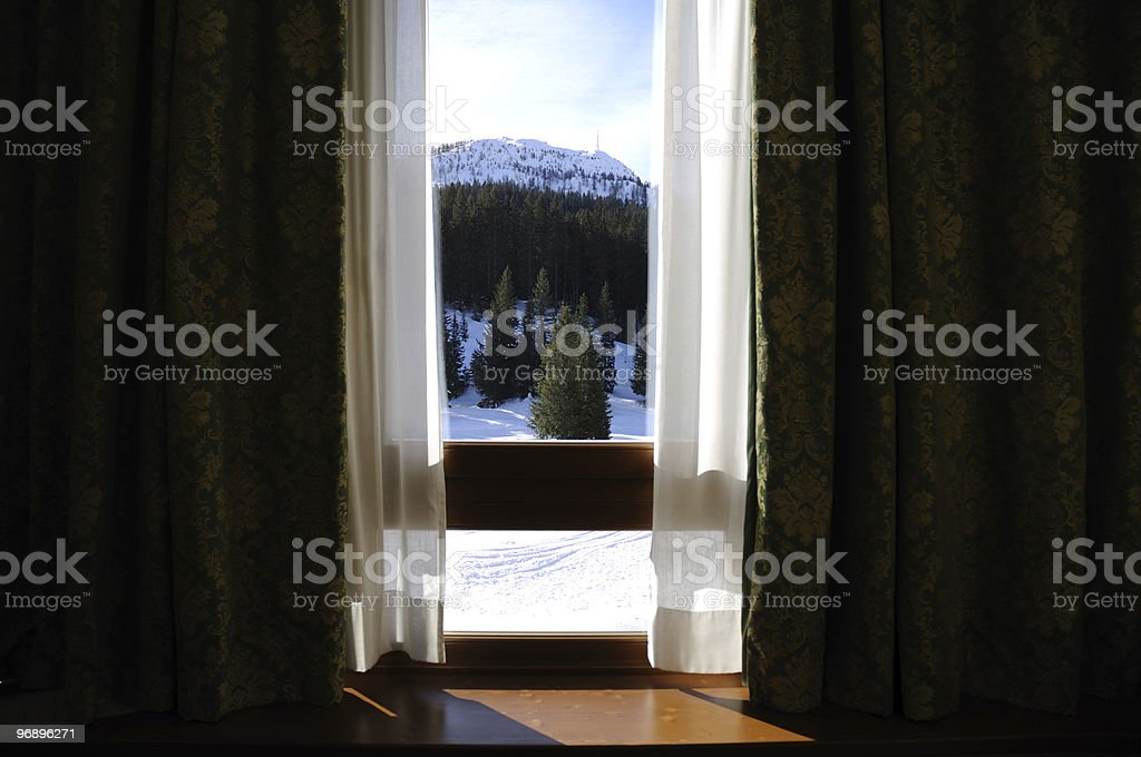 Mountain home royalty-free stock photo