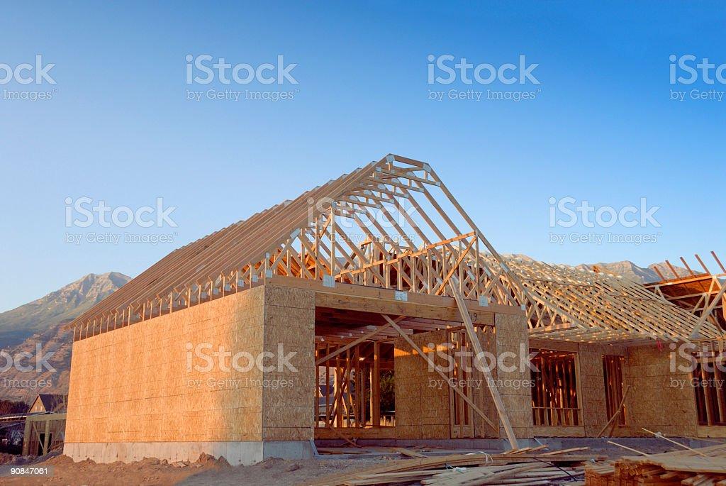 Mountain Home Under Construction stock photo