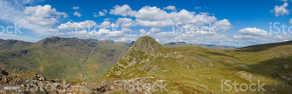 Mountain horizon, Lake District, UK stock photo