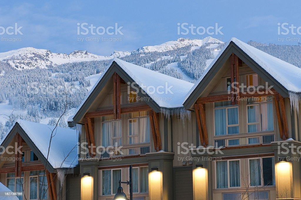 Mountain Hotel stock photo