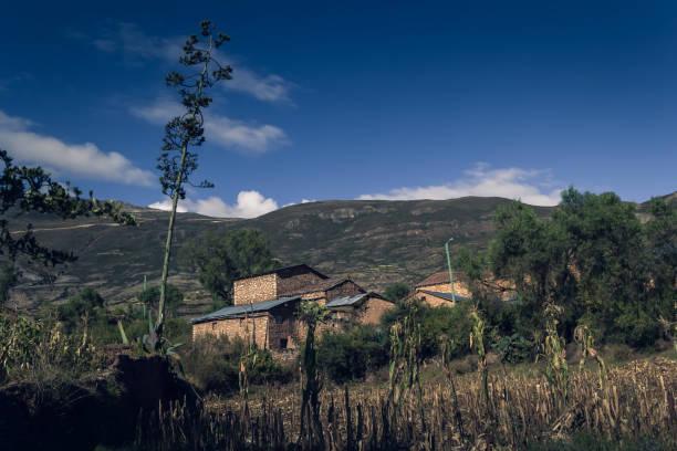 Mountain house in Peru stock photo
