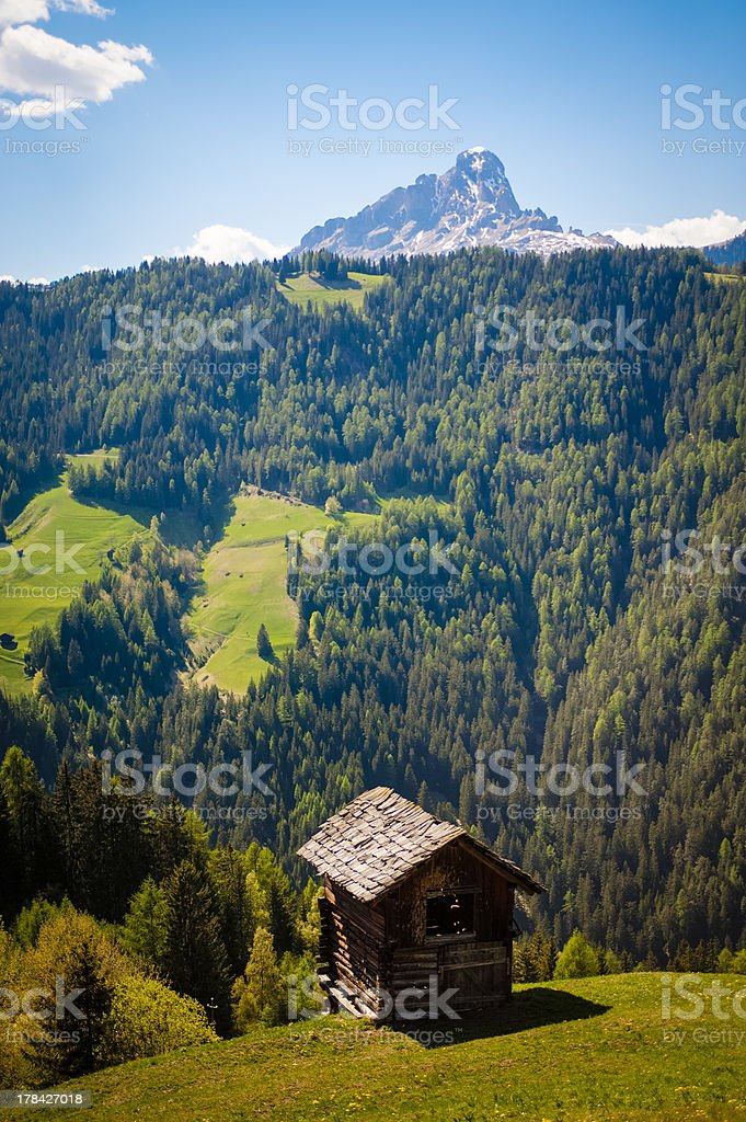 Mountain hut royalty-free stock photo