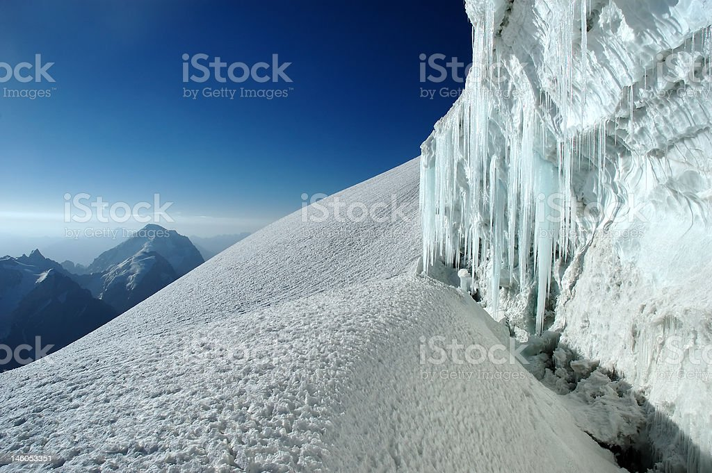 Mountain icicles royalty-free stock photo