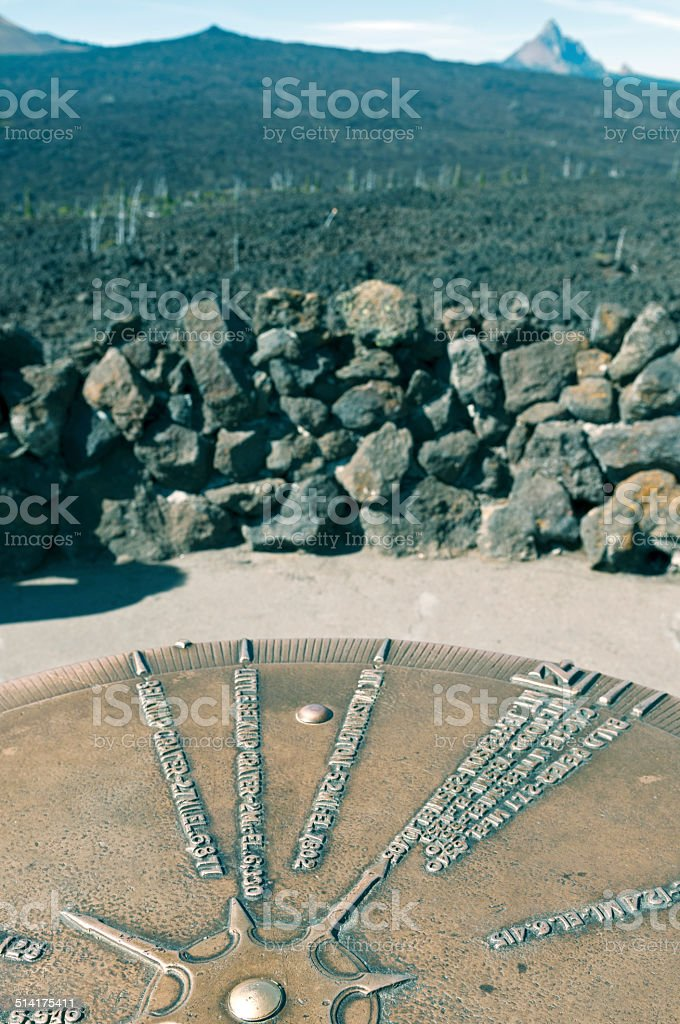 Mountain identifier and volcanic landscape in central Oregon stock photo