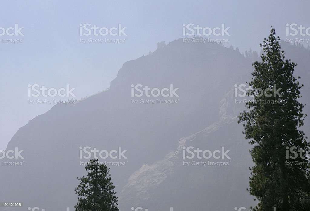 Mountain in a Smoky Haze royalty-free stock photo