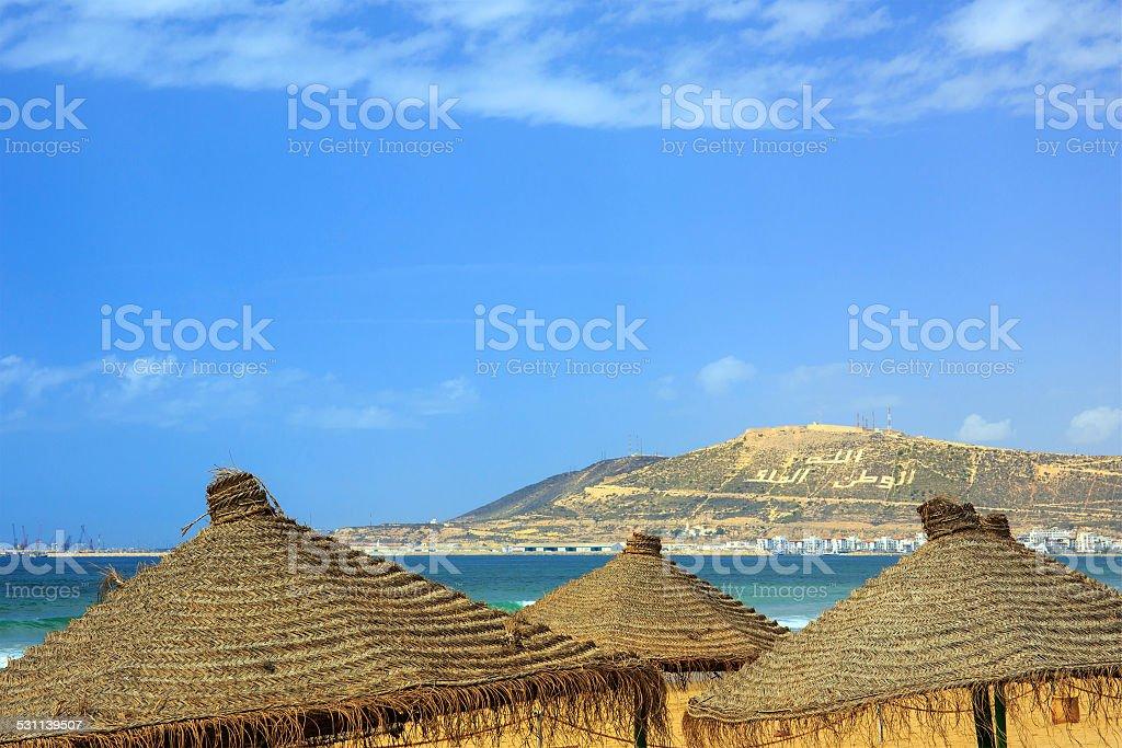 Mountain in Agadir, Morocco stock photo