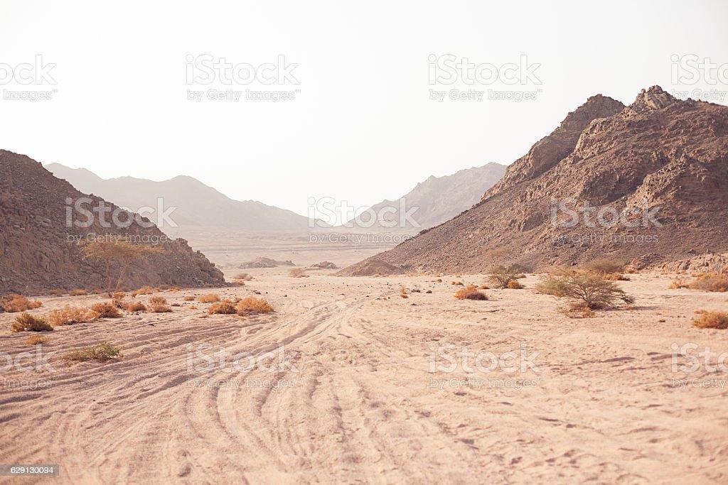 Mountain in desert stock photo