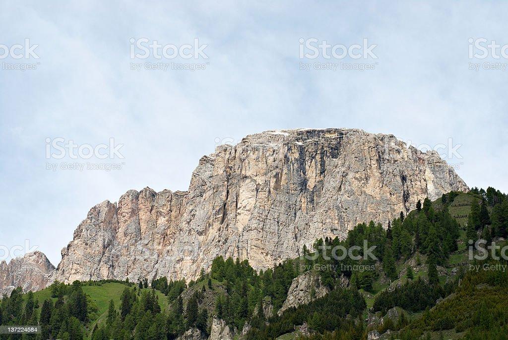 Mountain in Dolomites stock photo