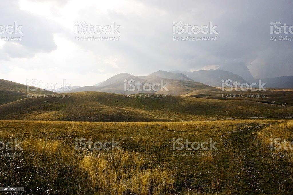 Mountain in Italy stock photo