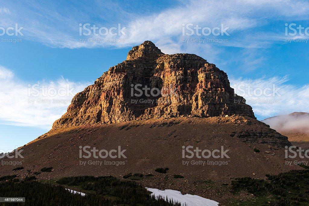 Mountain in Montana stock photo