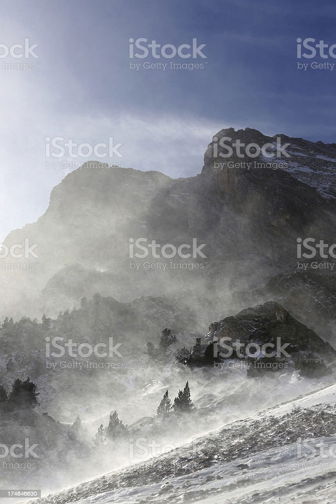 Mountain in the Pyrenees royalty-free stock photo