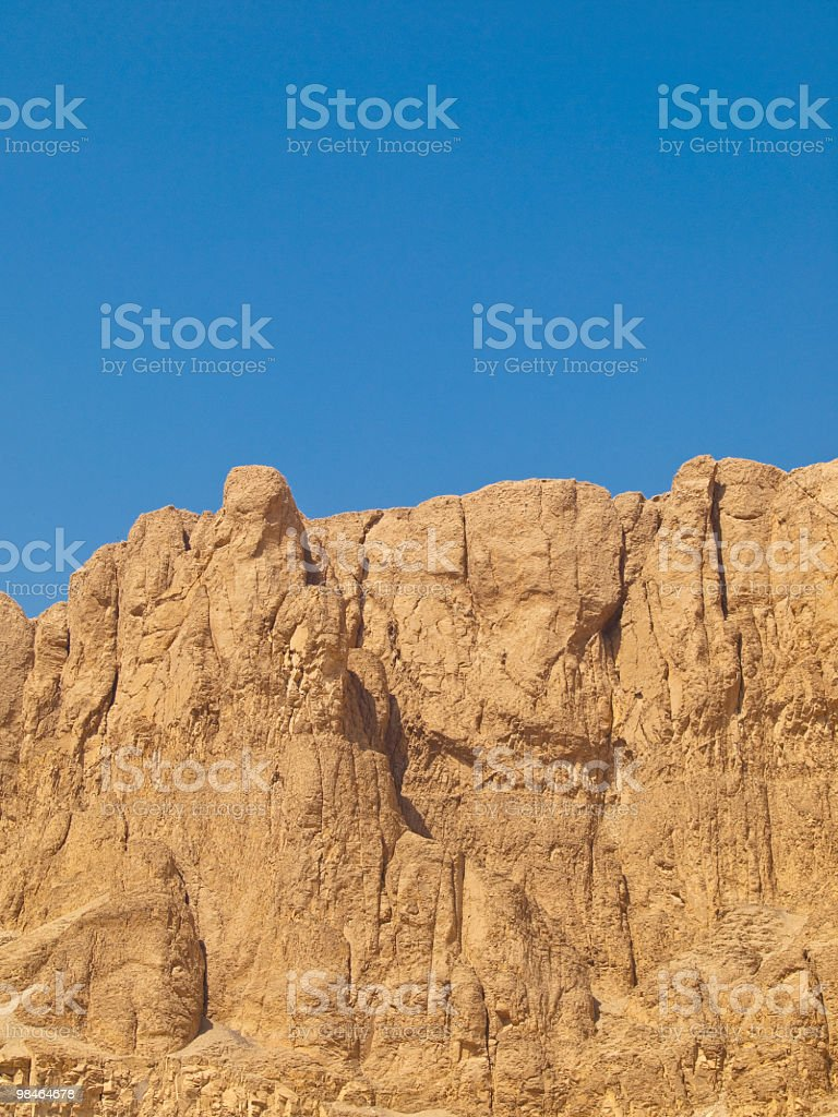 mountain in the west bank of Nile,Luxor,Egypt royalty-free stock photo