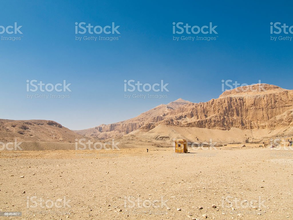 Montagna in Cisgiordania di Luxor, Egitto foto stock royalty-free