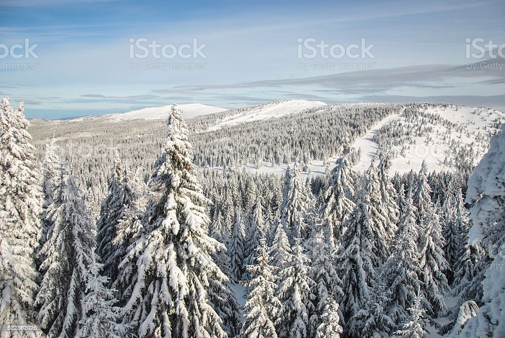 Mountain in winter stock photo