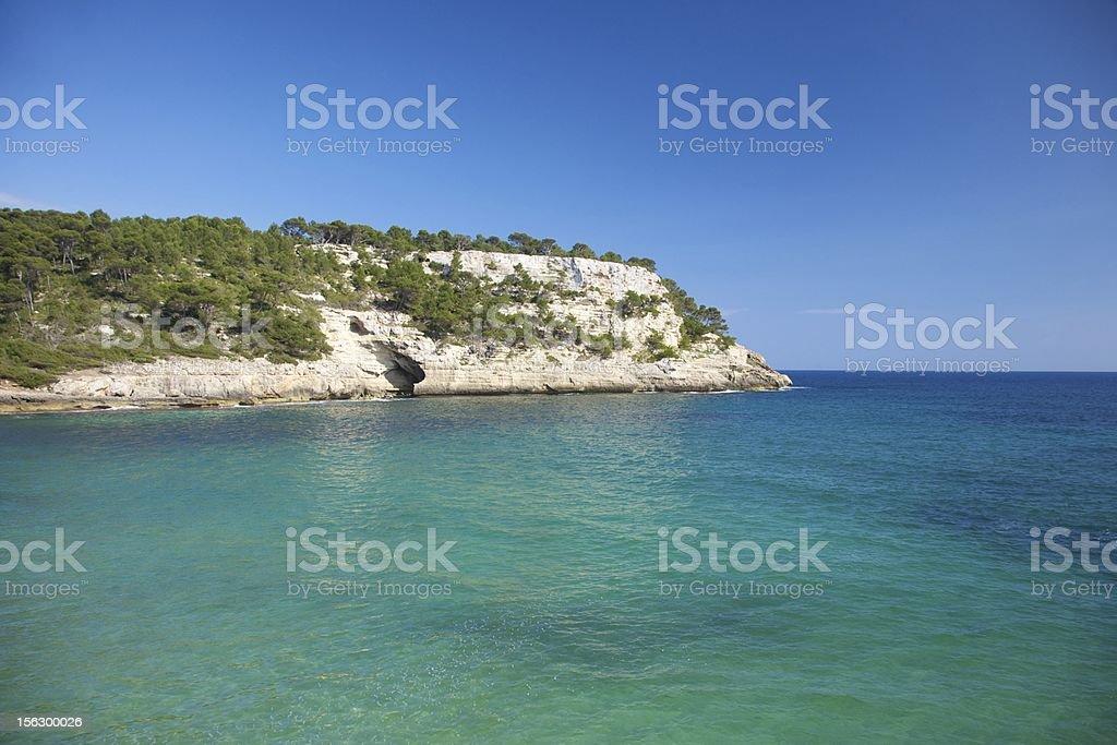 mountain inside the Mediterranean sea royalty-free stock photo