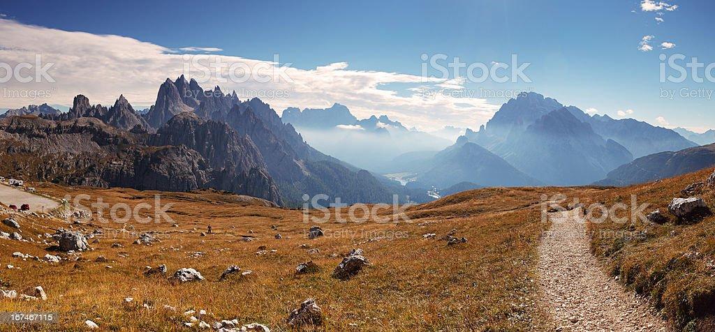 Mountain Italy Dolomiti panorama stock photo