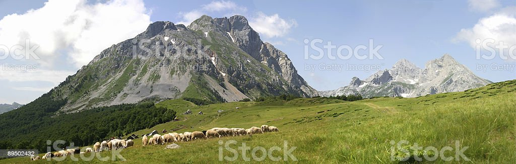 Mountain Komovi royalty-free stock photo