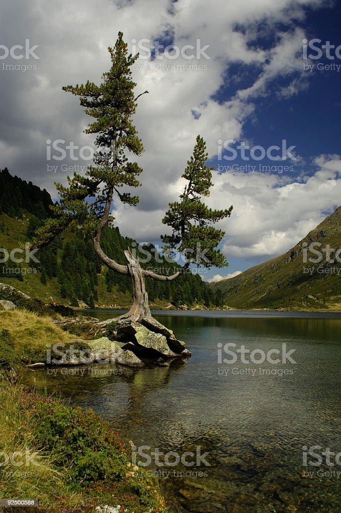 Mountain lake 4 royalty-free stock photo