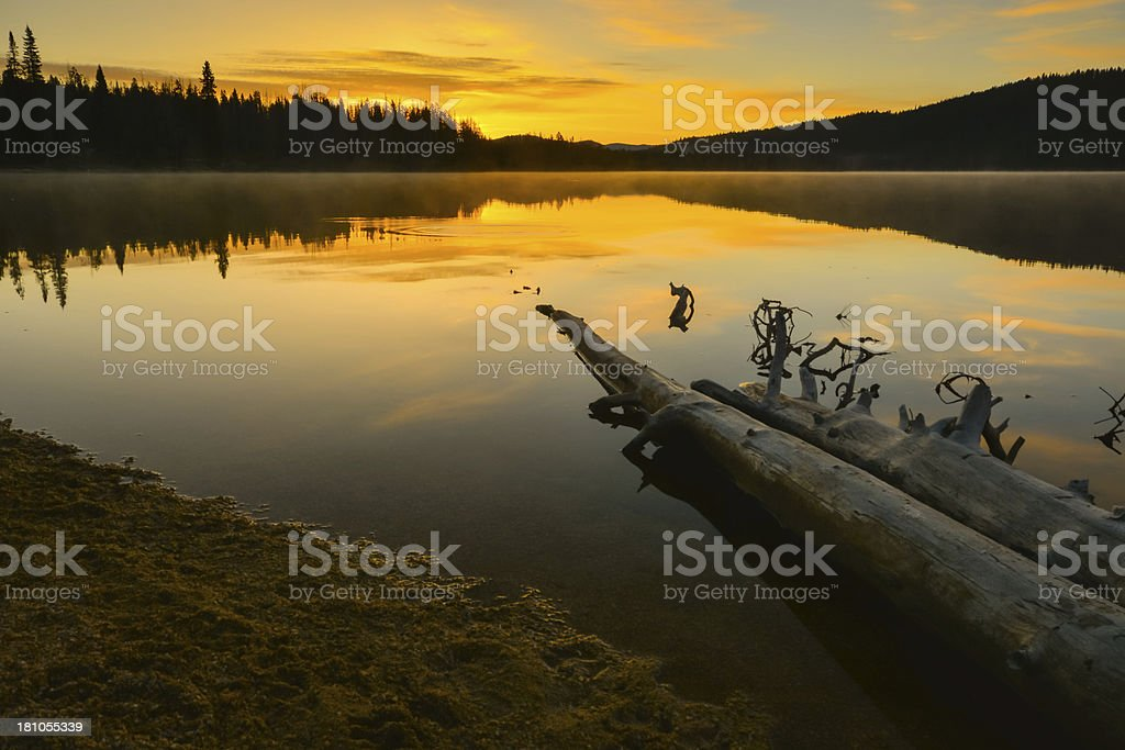 Mountain Lake at Sunrise royalty-free stock photo