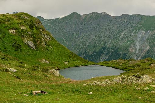 istock Mountain lake in Abkhazia 911353046