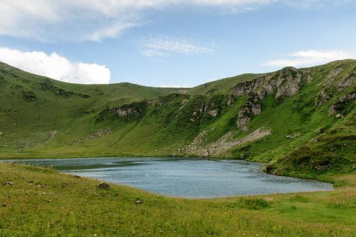 istock Mountain lake in Abkhazia 911353072