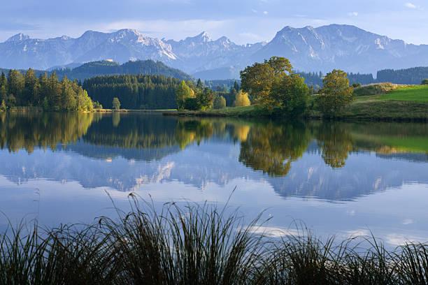 Mountain Lake in Autumn stock photo