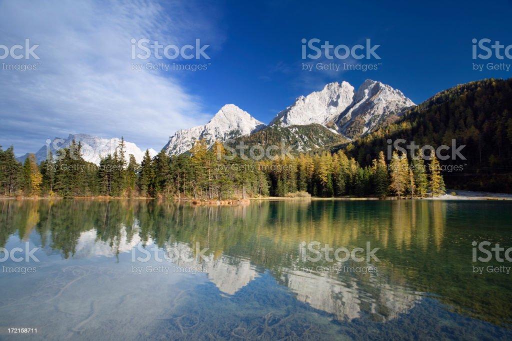 mountain lake in autumn royalty-free stock photo