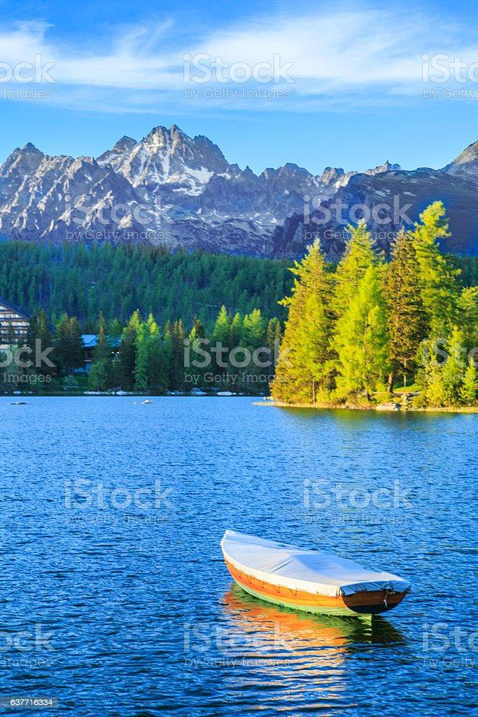 Mountain lake in National Park High Tatra, Slovakia, Europe stock photo