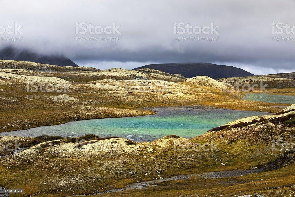 Mountain lake in Norway royalty-free stock photo