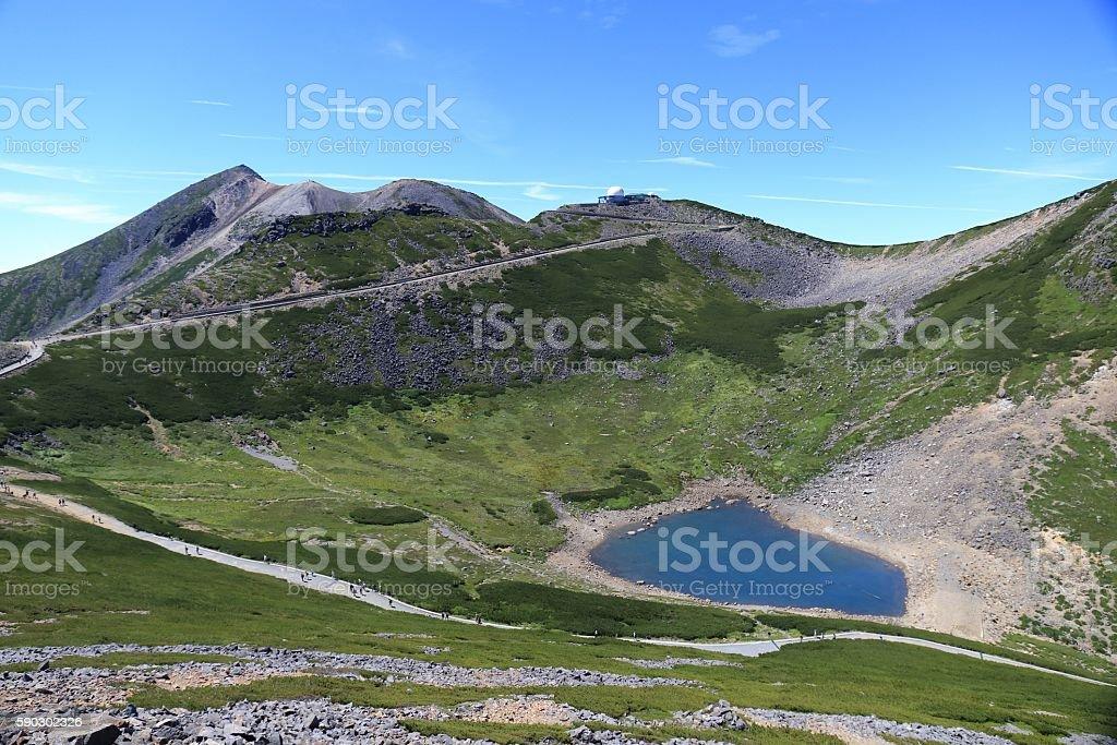 Mountain lake in the japanese Alps Стоковые фото Стоковая фотография