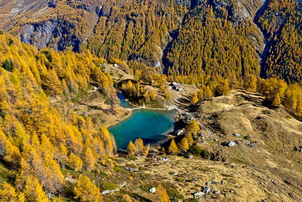 Bergsee Lac Bleu de Louche, Wallis, Schweiz – Foto