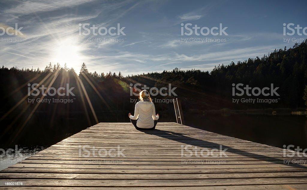 Mountain lake Meditation – Foto