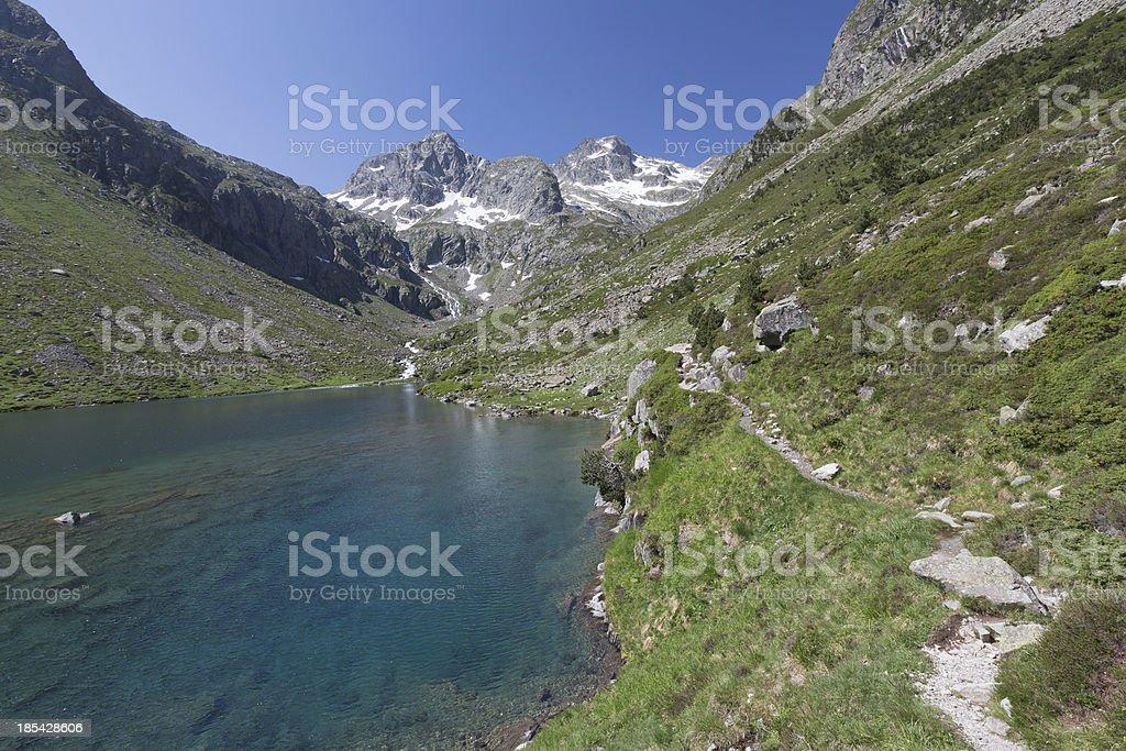 Mountain lake, National park of pyrenees, France royalty-free stock photo