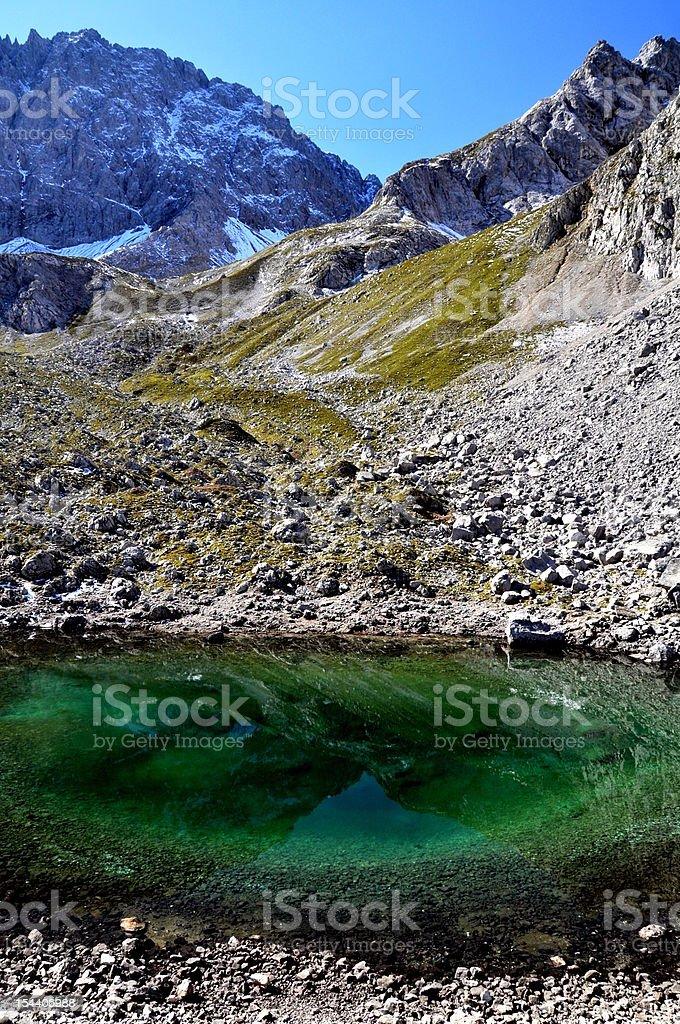 Mountain Lake near Zugspitze in the European Alps royalty-free stock photo