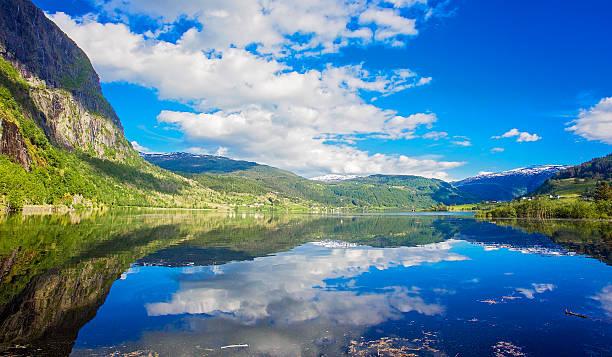 Mountain lake, Norwegen – Foto