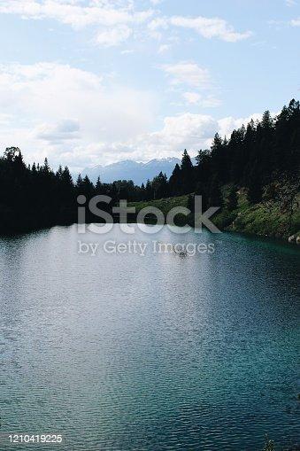820775686 istock photo Mountain lake 1210419225