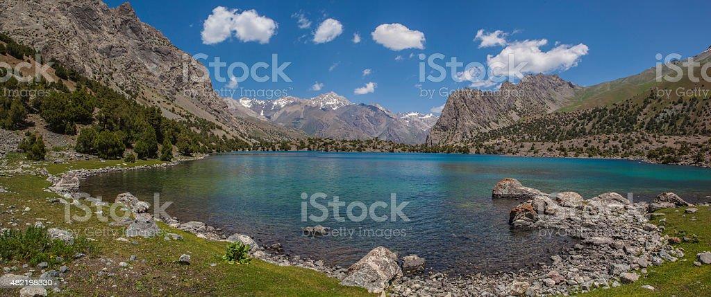Mountain lake (Panorama) stock photo