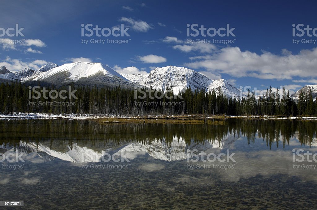 Mountain lake royalty-free stock photo