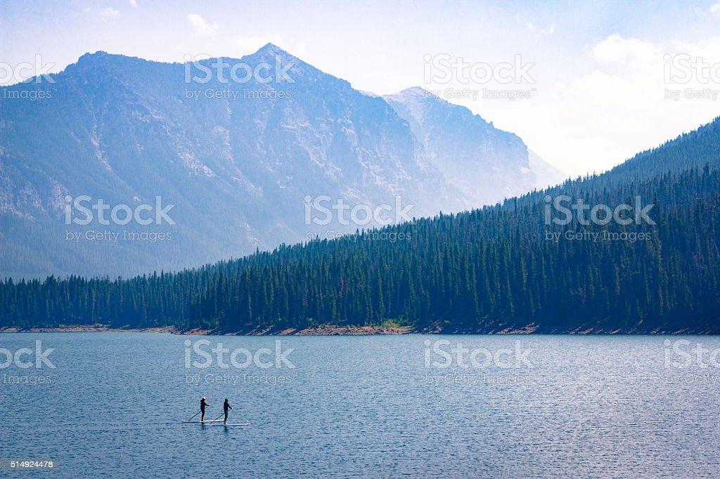 Mountain Lake Recreation stock photo