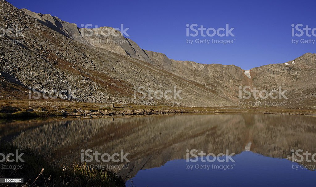 Mountain Lake Reflection royalty-free stock photo